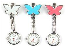 Butterfly Nurse Red Cross Clip-on Doctor Pendant Hanging Pocket Watch E15