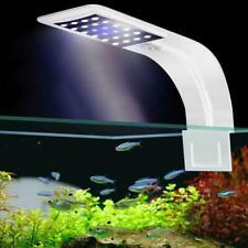 Super Slim LED Waterproof Aquarium Light Fish Tank Plant Grow Clip-on Lamp 220V
