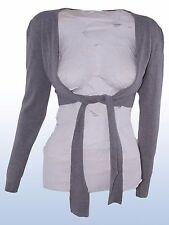 maglia maglioncino cardigan coprispalle lana cashmere grigio nero tg l / xl