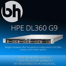 """HPE ProLiant DL360 G9 LFF 3.5"""" 1U Server 2x Fourteen 14-Core 192GB RAM HP Gen9"""
