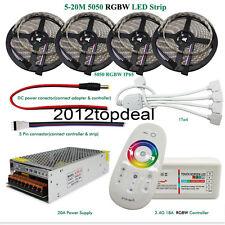 5M-20M 12V LED Strip RGBW 5050 Flexible Tape + 2.4G RF Controller+ Power adapter