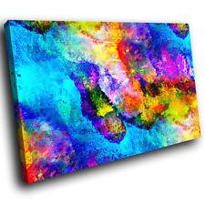 ZAB1578 Coloré Cool Funky Moderne Toile Abstrait Mural Art Image Imprime