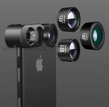 4K HD Mobile Phone Camera Lens Kits Fisheye Wide Angle Macro Telephoto Lens Clip