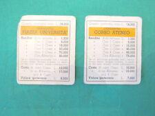 3 CARTE CONTRATTO arancioni di Monopoli in lire vintage