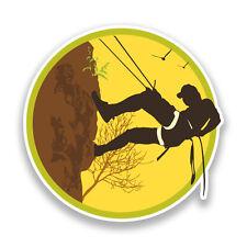 2 x Rock Climbing Vinyl Sticker Extreme Thrill Seeker Travel #7135