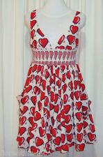 "BEAUTIFUL SASS&BIDE LOVEHEART COTTON DRESS 44/8 (AUS 14) ""GOODBYE FOR NOW"""