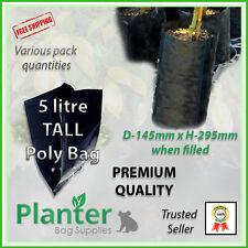 5 litre tall Premium Planter Bags - varying quantities. Poly Plant bag, Grow bag