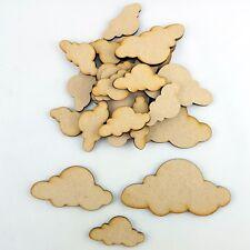 20 x Wooden MDF Cloud craft Shape Decoration tags Embellishments art Scrapbook