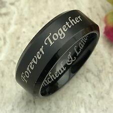 8mm Tungsten Wedding Ring, Men's Ring, Custom Engraved Ring Free Engraving