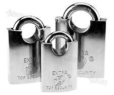 40/50/60mm Top Security Shackle Padlock Door Lock Hardened With 3 Keys New