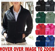 Ladies Soft Polar Fleece Jacket Pockets Cozy Warm Winter Coat XS-2X 3X NEW!