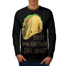 Triste Taco desintegrarse Hombre Manga Larga T-shirt new | wellcoda