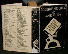 James Hilton - GOOD-BYE, MR. CHIPS - 1940 HC/DJ Illust