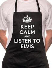 Keep Calm y escuchar Divertido Novedad Delantal de Cocina Barbacoa De Elvis
