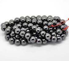 Lot de 100 à 200 Perles Hématite 8 10 mm Création Shamballa Bracelet Collier
