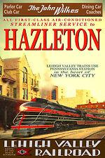 Hazleton PA Lehigh Valley Railroad John Wilkes New Train Poster Art Print 124