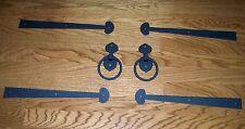 """Garage Door Decorative Kit """"JAMESTOWN""""  4 Hinges with 2 Iron Pull Handles-METAL"""