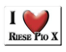 CALAMITA VENETO ITALIA FRIDGE MAGNET MAGNETE SOUVENIR I LOVE RIESE PIO X (TV)--