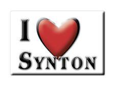 SOUVENIR UK - SCOTLAND MAGNET UNITED KINGDOM I LOVE SYNTON (SCOTTISH BORDERS)