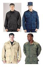 Military BDU Shirts - Black, Navy Blue, Khaki, OD B.D.U. Shirts Tops - All Sizes