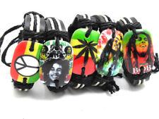 Bob Marley Bracelets Brown & Black Leather Bands Adjustable Straps ❤Aus❤