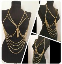 Sexy Women Tassel Multilayer Body Chain Circle Stitching Fashion Body Chains