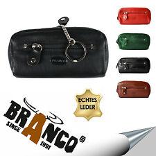 BRANCO Schlüsseletui Schlüsseltasche Etui Münzfach 2 Ringe XL Leder 5 Farben NEU