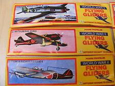 Conjunto De 3 Poliestireno Guerra Mundial 2 volador corredera Aviones - 1 To 3