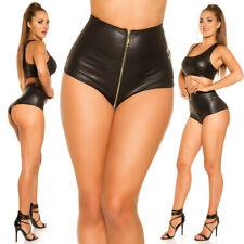 Koucla Gogo Wetlook Hotpants mit Zip