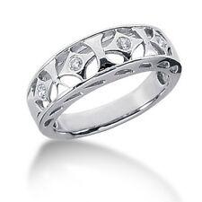 Women's Round Brilliant Cut Diamond Right Hand Ring in 14k White Gold