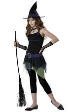 SASSY WITCH Halloween Costume Girls Tweens L10-12  WHOLE SET, NEW $60 V +$10GFT