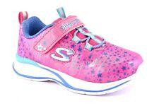 SKECHERS 81390N NPMT Fuxia Azzurro Rosa Stelle Bambina Sneakers Strappo Estive