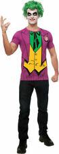 Batman Movie Joker T-shirt Top and Wig Adult Costume Kit Mens Dc Comics New