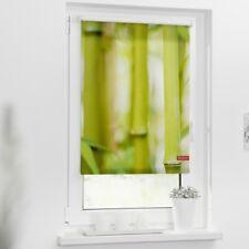 Lichtblick Rollo Klemmfix, ohne Bohren, blickdicht, Motiv Bambus, Farbe grün