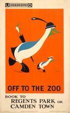 Vintage 1921 London Zoo Penguins Poster A4//A3//A2//A1 Print