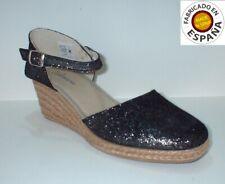 Sandalia piel hebilla color marrón y negro tallas 36 a 41