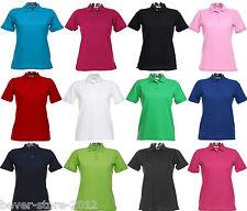 Donna polo-maglietta Polo t-shirt taglie forti XS S M L XL XXL 3XL 4XL 34-48