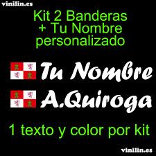 Pegatina Vinilo Bandera Castilla Leon + Nombre Personalizado