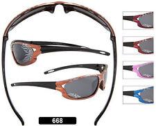 New Children's Sunglasses Kids 3 years Boys Girls Sports Flame Wrap Black 668