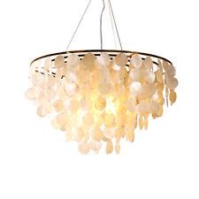 Modern Gold Metal Seashell Chandelier Pendant Light Ceiling Lamp Fixture Decor