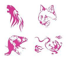 1 DESIGN-Schablone DIN A4 Textil Wand Stencil TIERE Wildnis Fuchs Panther Biber