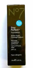 No7 Stay Perfect Foundation Coverage Medium SPF 15 30ml - Please Choose Shade: