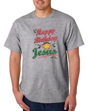 Gildan Cotton T Shirt Christmas Happy Birthday Jesus Christian