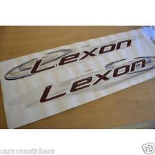 LUNAR Lexon (2007) Caravan Side Name Stickers Decals Graphics - PAIR