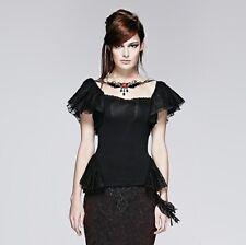 Punk Rave Black Moth Dames Top Gothic Stylish Elegant Lolita Dolly Kei T-391