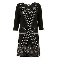 %Yumi Art Deco Kleid schwarz S-M
