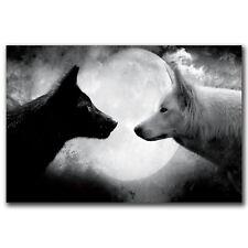 K3514 Wolf - Wild Nature Animals Art Fabric 21x14 40x27 inch Poster