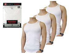 Knocker AKW001 Mens A-Shirts Cotton Ribbed Undershirt Athletic Tank Tops 3pk