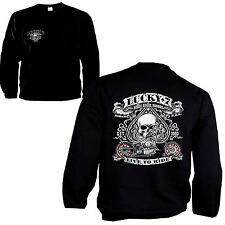 * Sweatshirt Biker Harley-Chopper-Motiv Pullover Front + Rückendruck  *4240