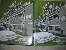 1987 Oldsmobile DELTA 88 Service Shop Manual Set OEM FACTORY BOOKS 87 EXC CON x